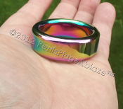 Super Heavy Duty Rainbow Stainless Cock or Ball Ring 34.9mm ID