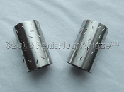 Stainless Steel Salt & Pepper Shakers Hand Done Etched Brushed