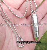 Bullet pendant necklace 316L Stainless Steel Urethral plug