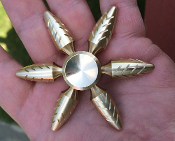Solid Brass fidget spinner one of kind custom carved