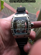 SEE THRU SKULL WATCH