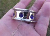 COBALT DROP RIM™ GLANS RING WITH COBALT SWAROVSKI CRYSTALS