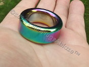 Super Heavy Duty Rainbow Stainless Glans Ring 25mm ID