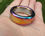 Super Heavy Duty Rainbow Stainless Glans or cock Ring 31.75mm ID