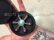 Solid fidget spinner 6 in 1 Rainbow Hand Spinner nice weight