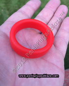 BLACK STRETCHY SILICONE COCK RING OR BALL RING