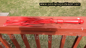 LEATHER RED WHIP FLOGGER
