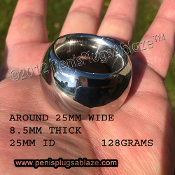 SMOOTH LINE SUPER GIANT™ GLANS WEIGHT RING !! 128 GRAMS