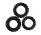 Stretch-To-Fit BLACK Cock Rings 3 Pack Silicone
