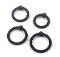 Stretch-To-Fit BLACK GLANS Rings 4 Pack PURE Silicone